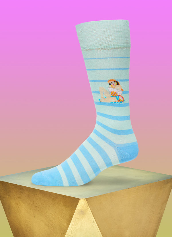 """Baila Me"" Sock in Blue"