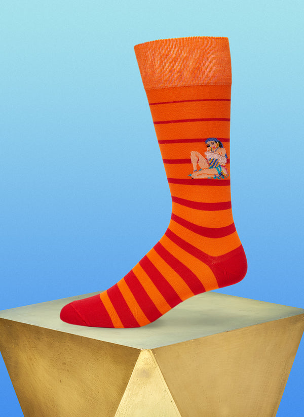 """Baila Me"" Sock in Red"