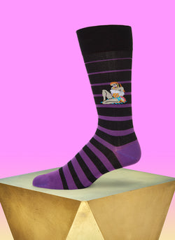 """Baila Me"" Sock in Black"