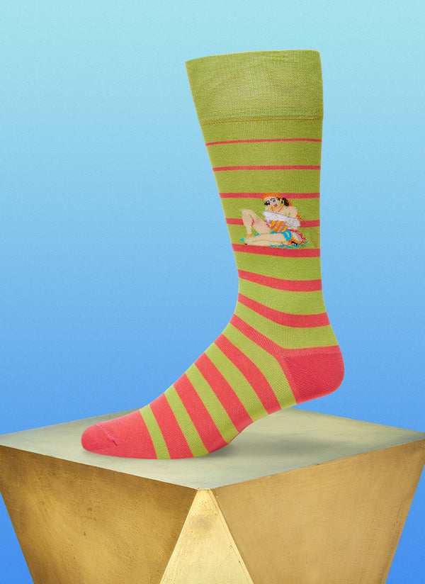 """Baila Me"" Sock in Green"