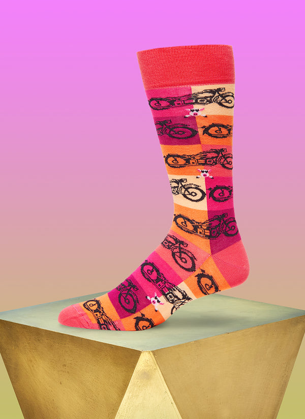 """High on Hog"" Sock in Pink"