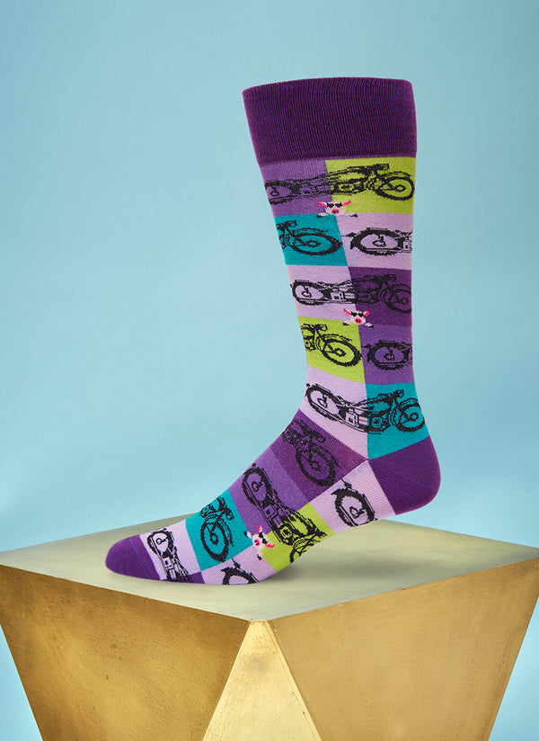 """High on Hog"" Sock in Purple"