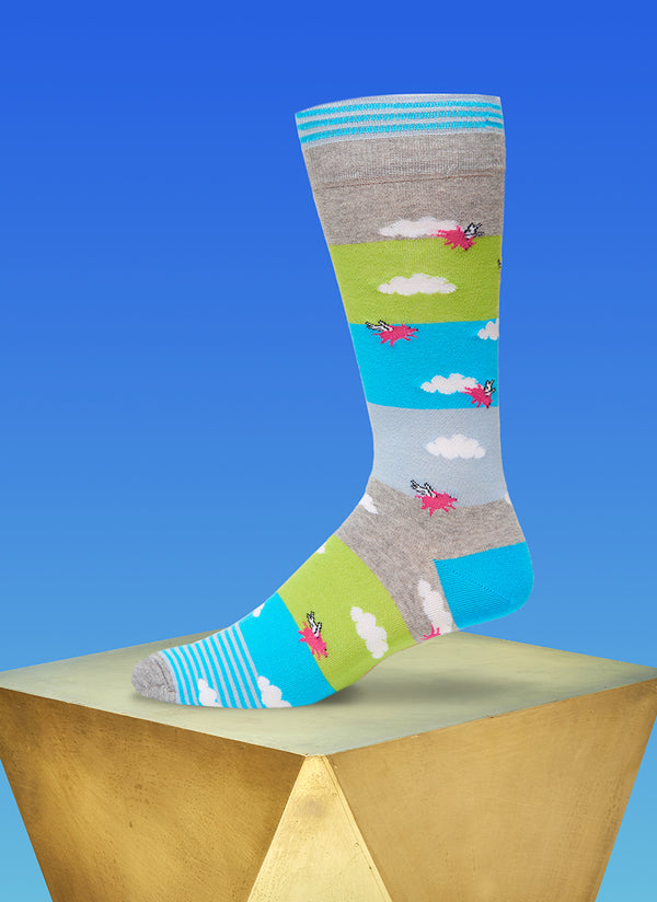 """Hogs On The High"" Sock in Grey"