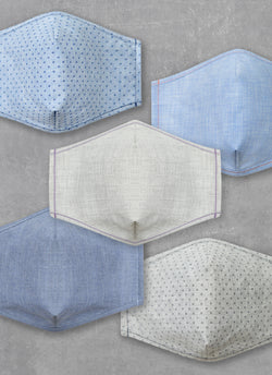 Denim Non-Medical Masks (Assorted Pack of 5)