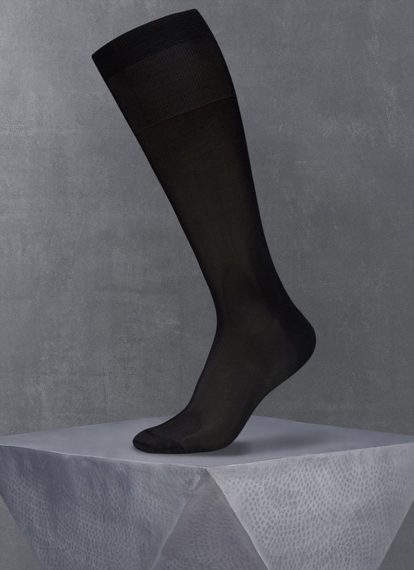 Tuxedo Over the Calf Silk Sock
