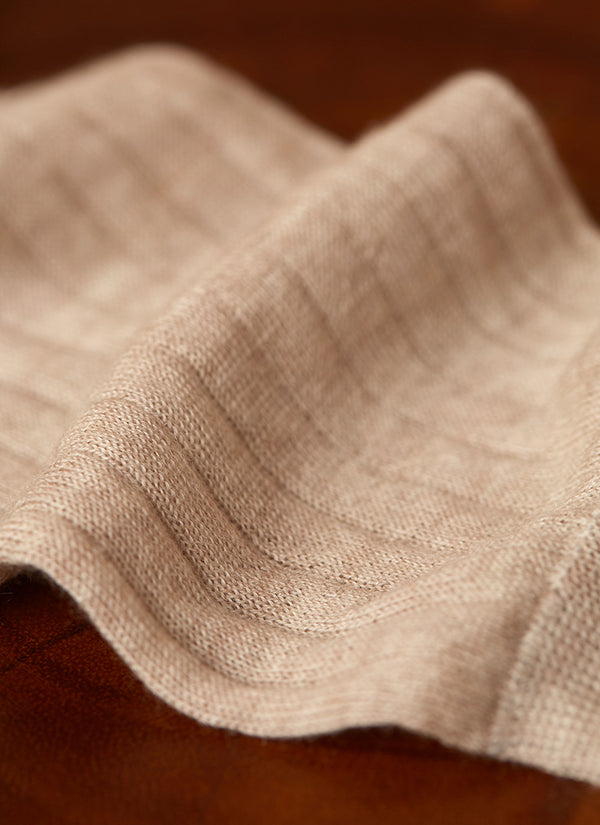 100% Cashmere Crew Sock in Oatmeal