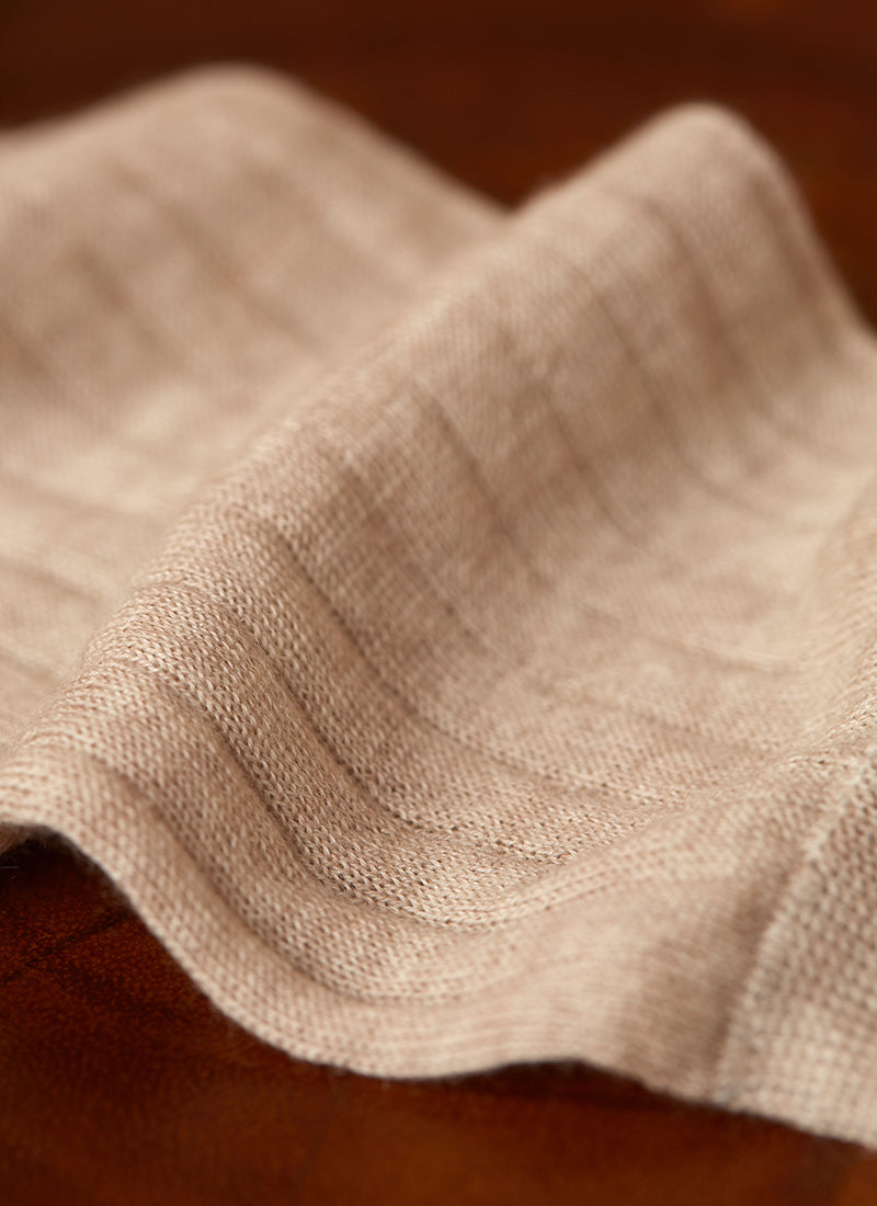 100% Cashmere Sock in Oatmeal