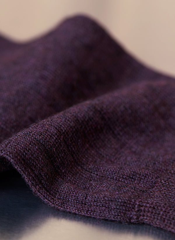 100% Cashmere Sock in Aubergine