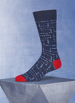 Dots in Navy Sock