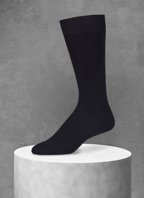 Egyptian Cotton Sock in Black