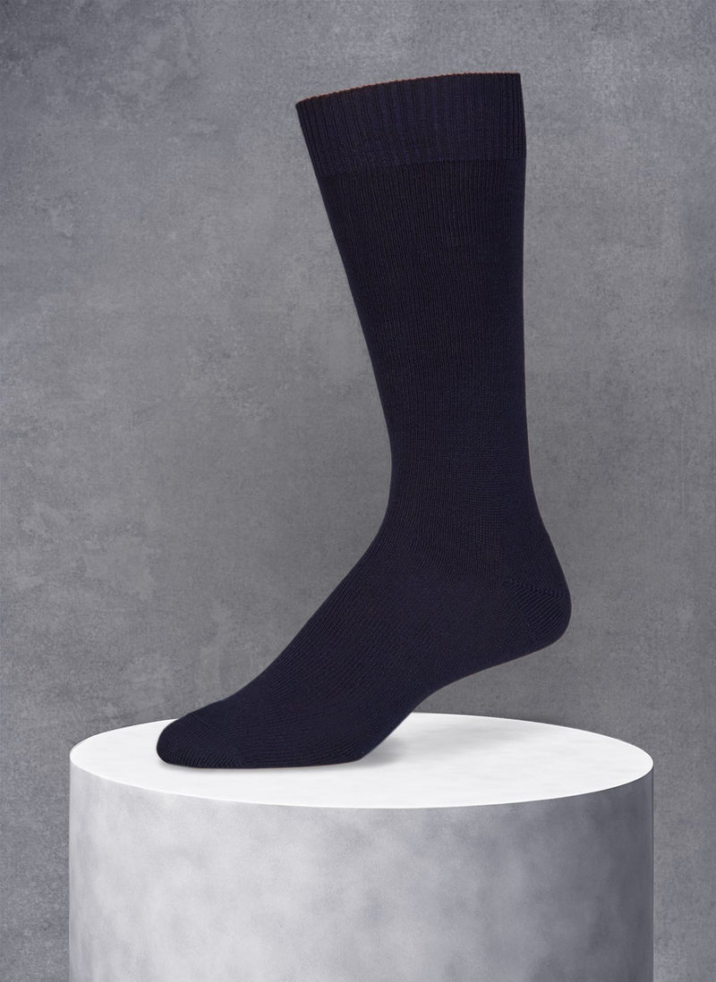 Egyptian Cotton Sock in Navy
