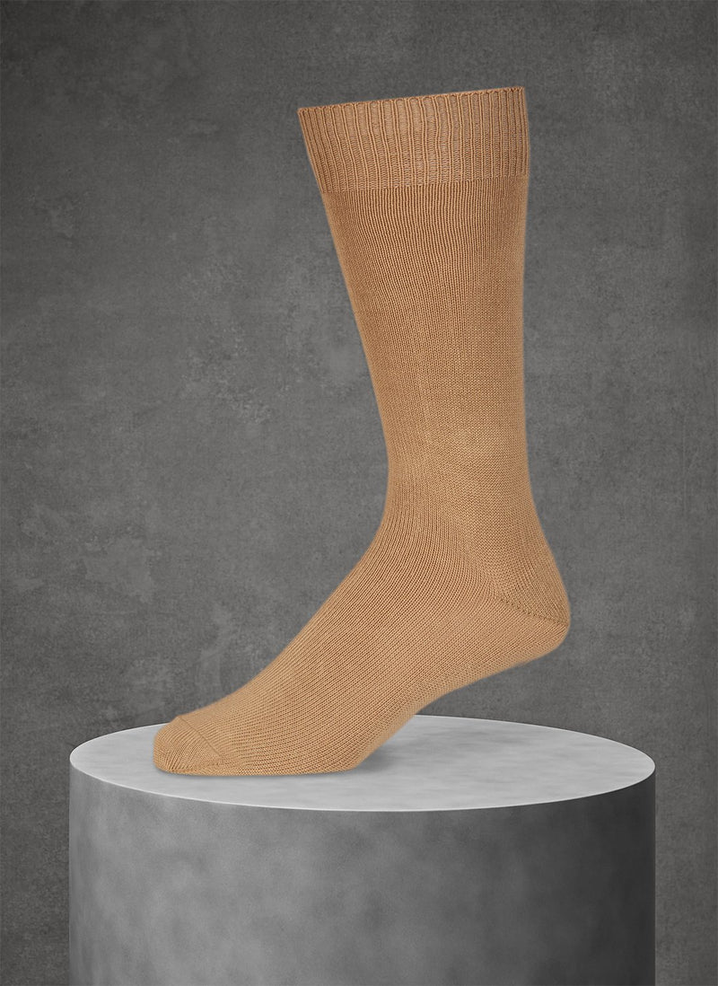 Egyptian Cotton Sock in Taupe