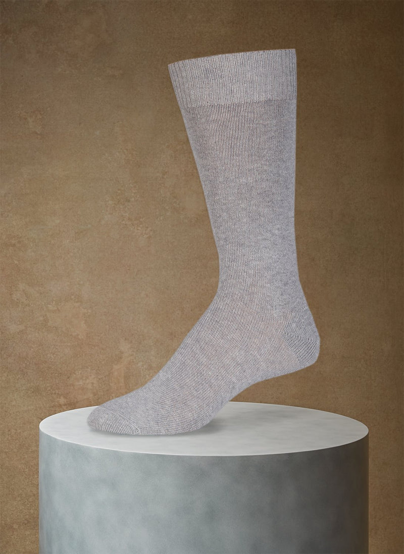 Egyptian Cotton Sock in Light Grey