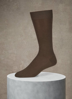 Egyptian Cotton Sock in Olive