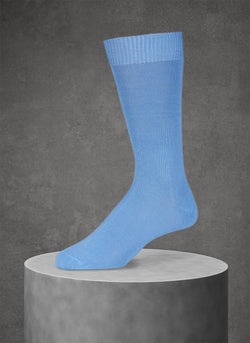 Egyptian Cotton Sock in Light Blue