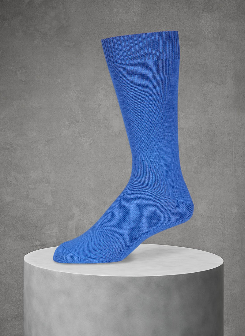 Egyptian Cotton Sockn in Periwinkle