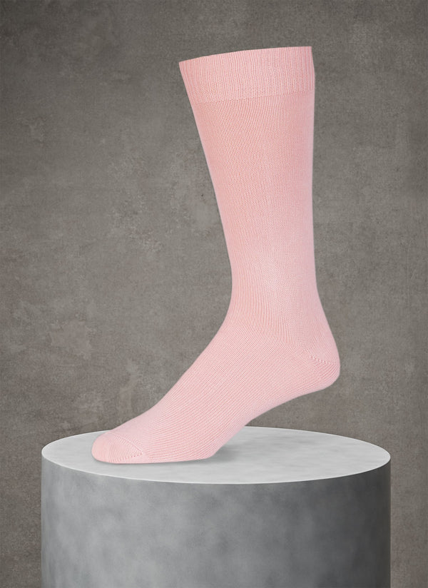 Egyptian Cotton Sock in Light Pink