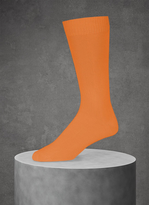 Egyptian Cotton Sock in Orange