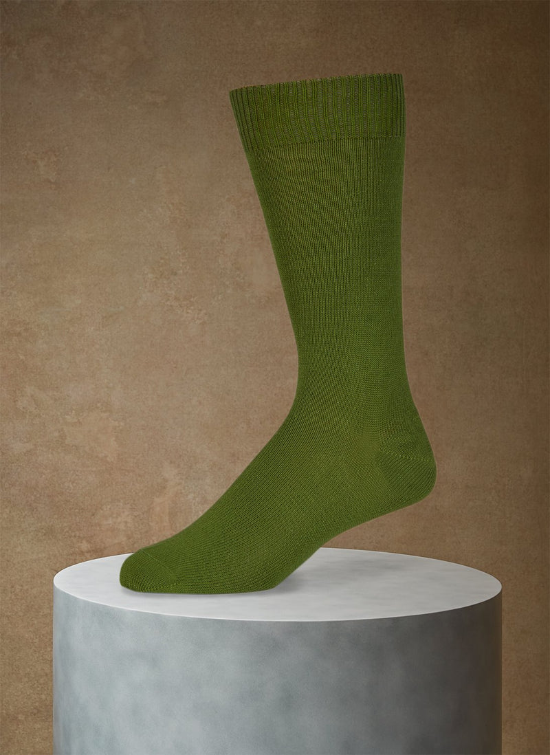 Egyptian Cotton Sock in Bright Green