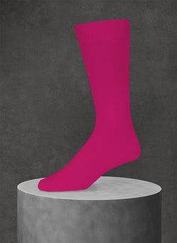 Egyptian Cotton Sock in Fuchsia