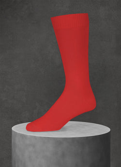 Egyptian Cotton Sock in Red