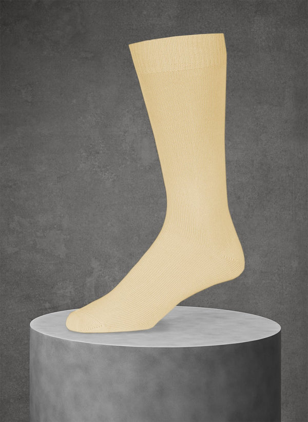 Egyptian Cotton Sock in Yellow