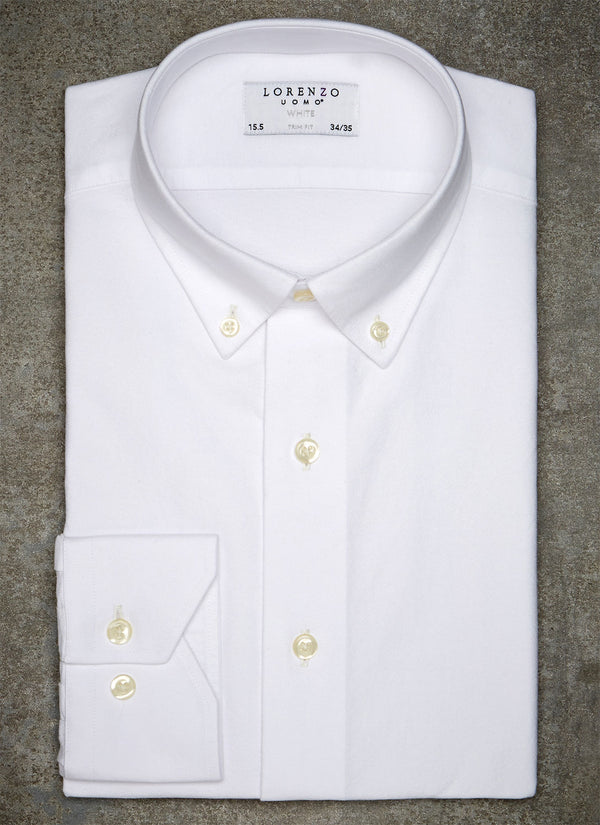 Alexander in White Oxford Shirt