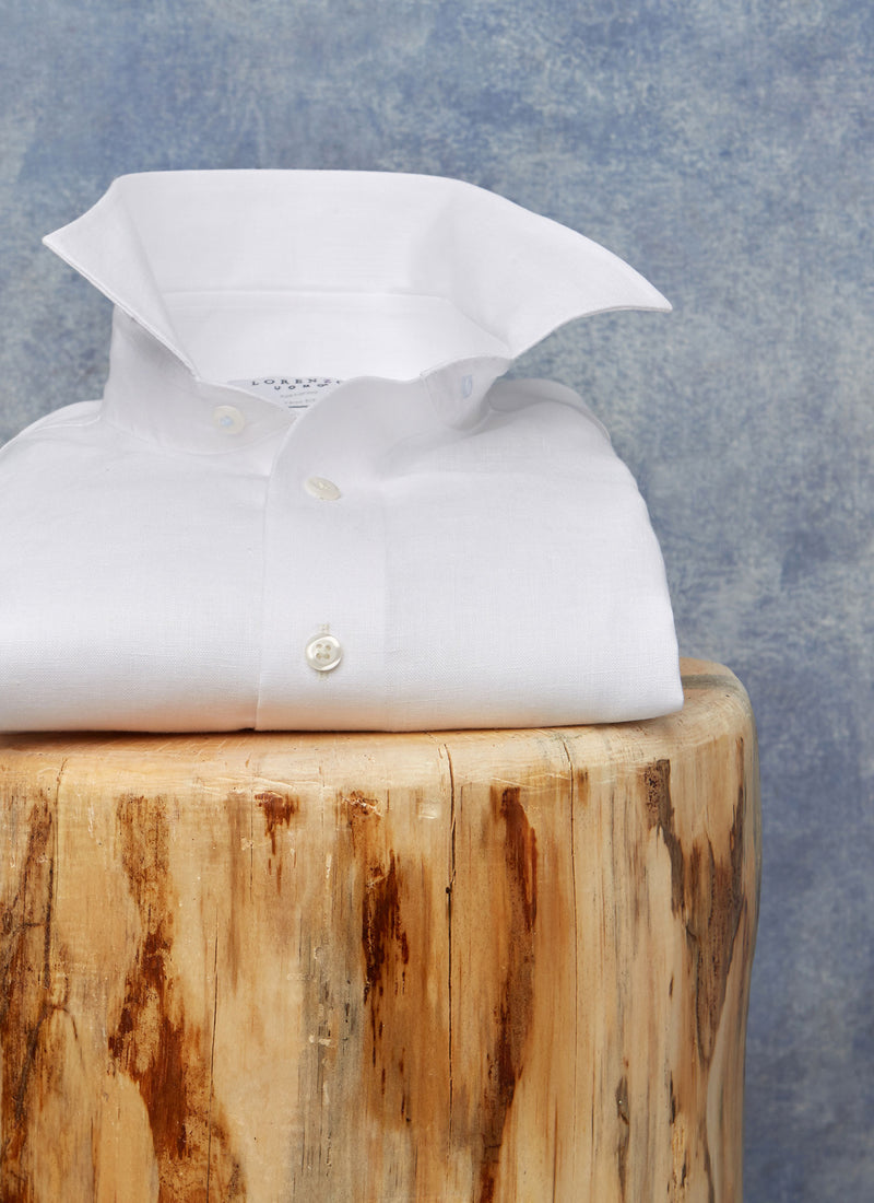 Alexander in White Linen Shirt