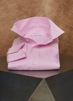Alexander in Pink Gingham Shirt