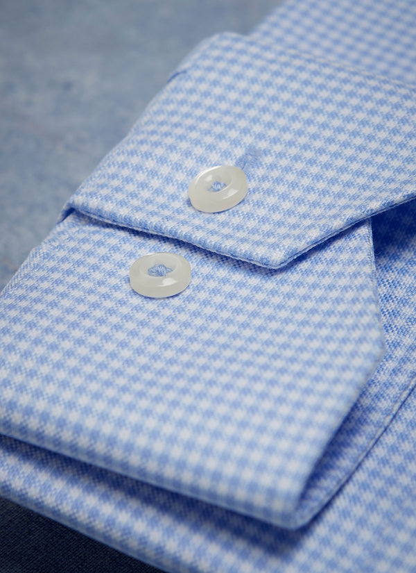 Alexander in Blue Gingham Shirt
