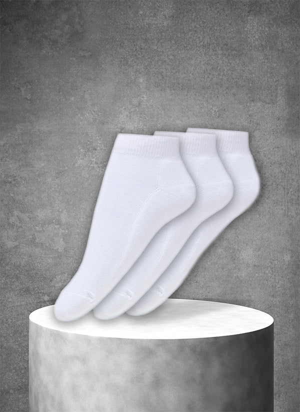 3-Pack Women's Ankle Sport Socks in White