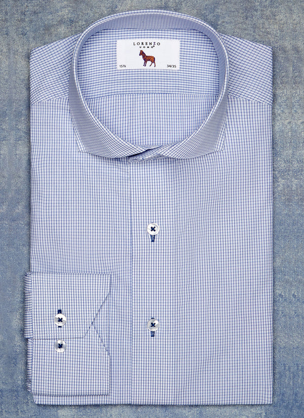 Alexander in Blue Mini Windowpane