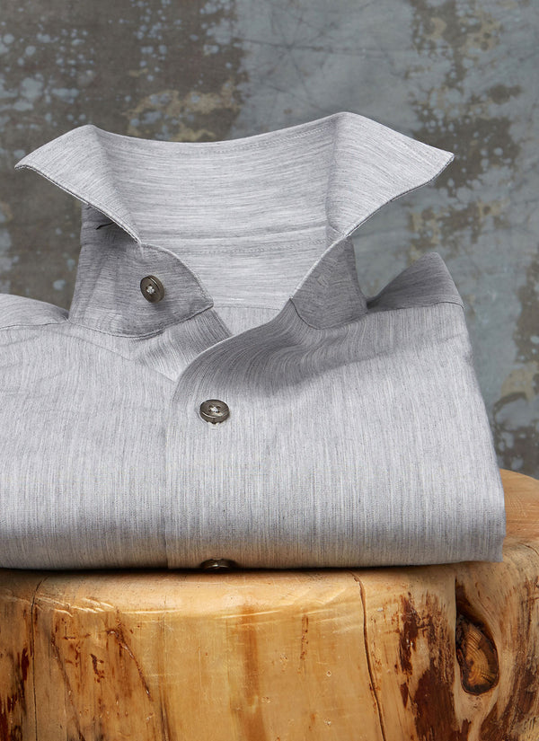 Alexander in Heather Grey Shirt