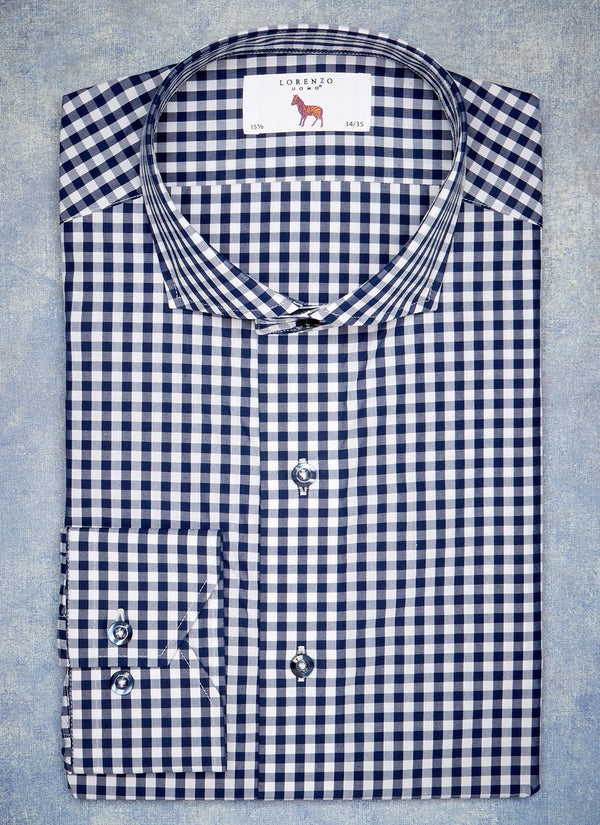Alexander in Navy Gingham