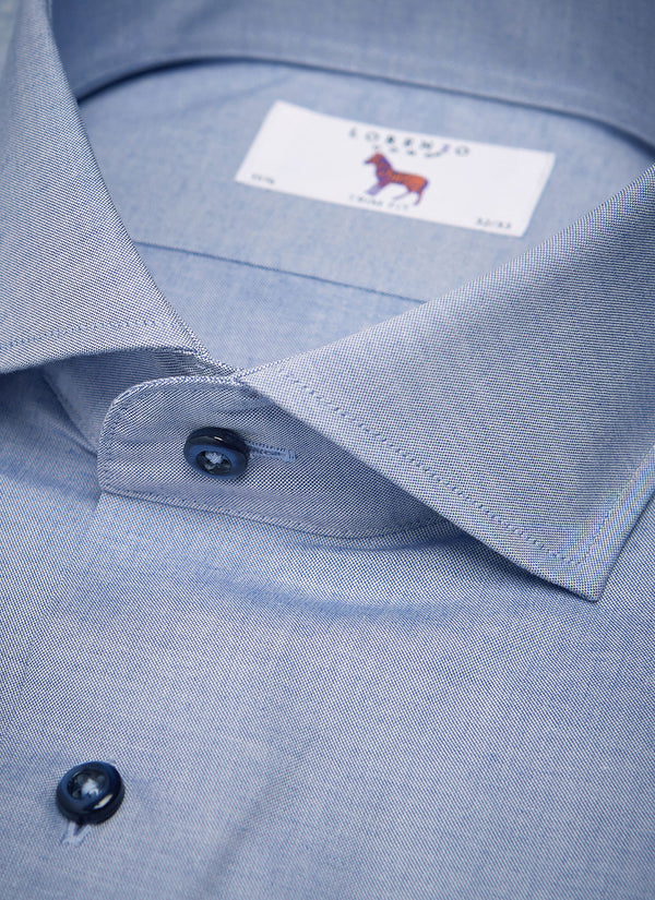 Alexander in Blue Textured Oxford Shirt