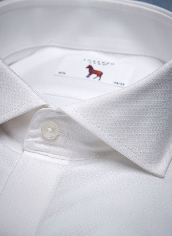 Alexander Formal Diamond Pattern in White Shirt