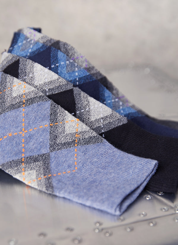 Jaspé Argyle Sock in Denim