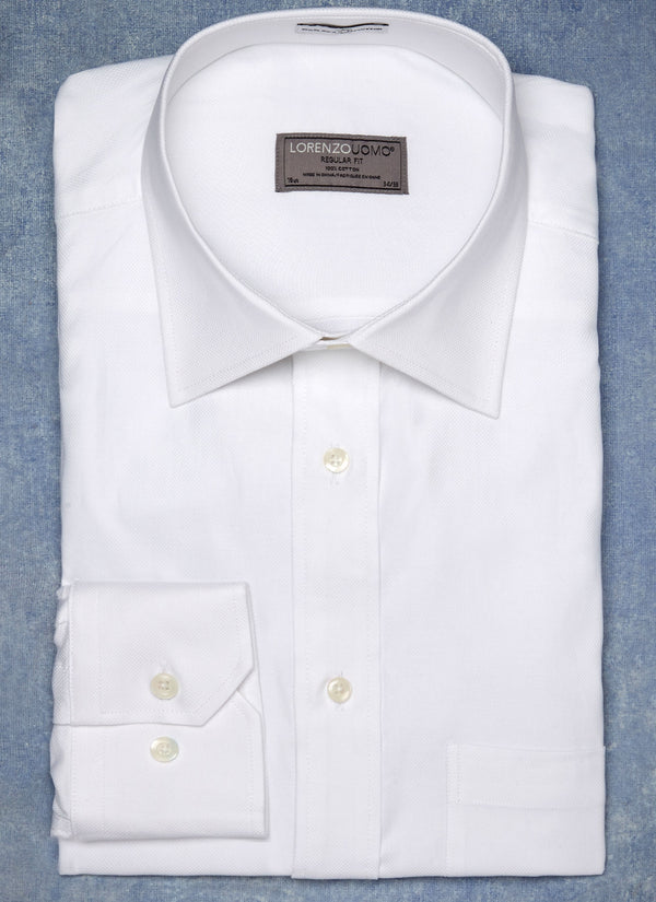 William Fullest Fit Shirt in White Basketweave
