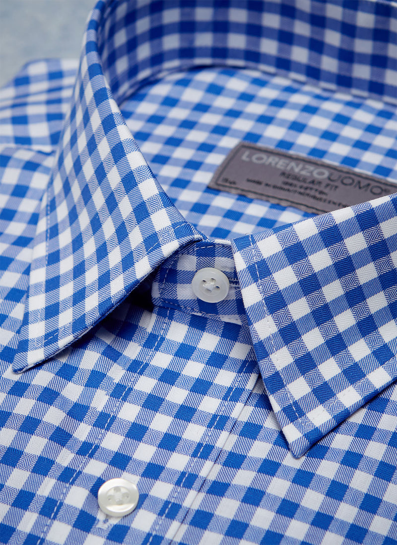 William Fullest Fit Shirt in Blue Check
