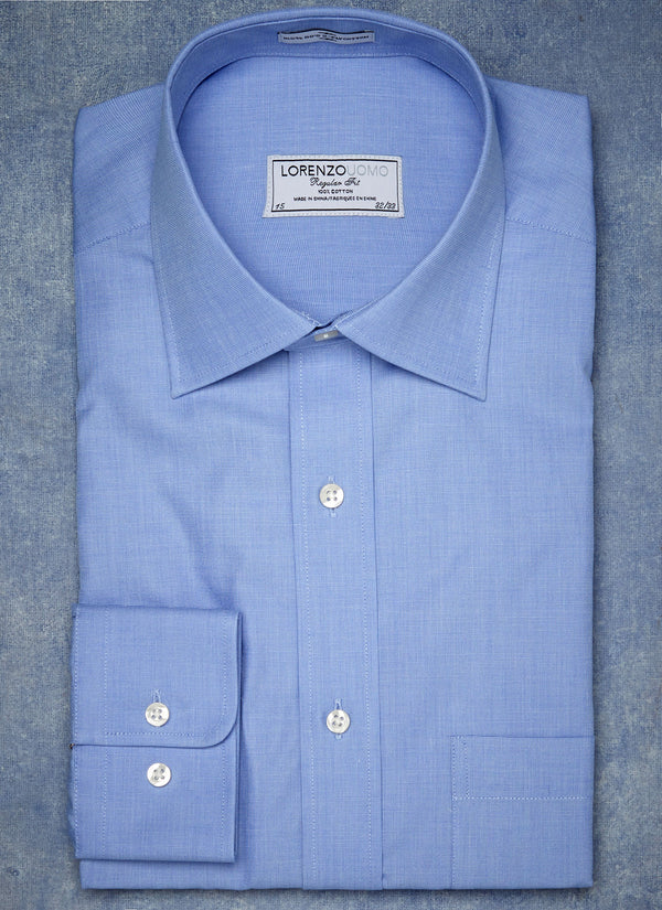 William Fullest Fit Shirt in Blue End-on-End