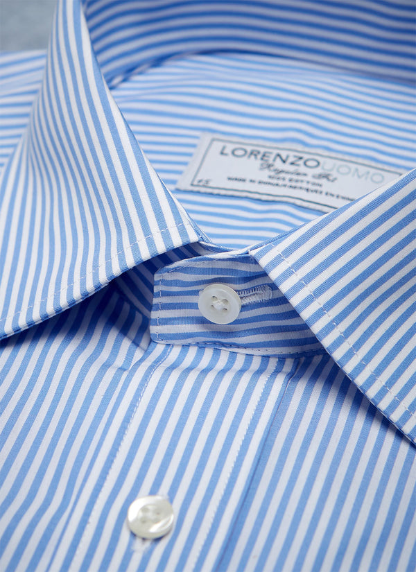 William Fullest Fit Shirt in Blue Stripe