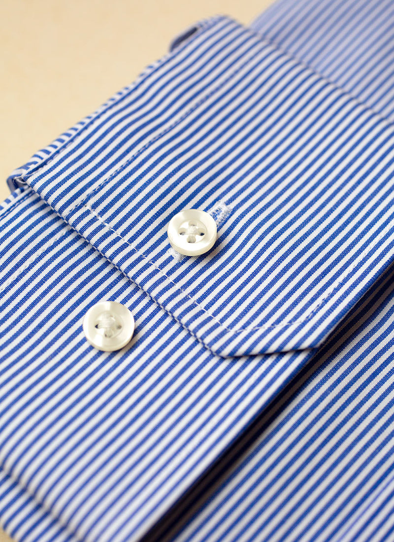 William in Thin Blue Thin Stripe