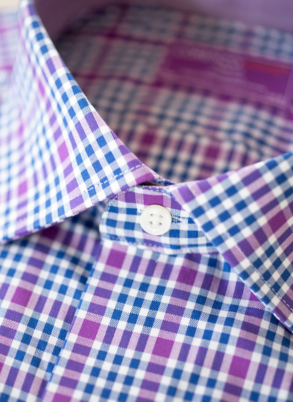 Maxwell in Blue and Purple Gingham Shirt