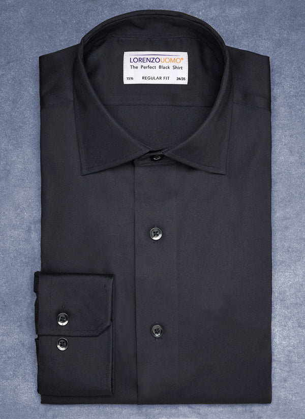 The Perfect White Shirt® in Black-Maxwell