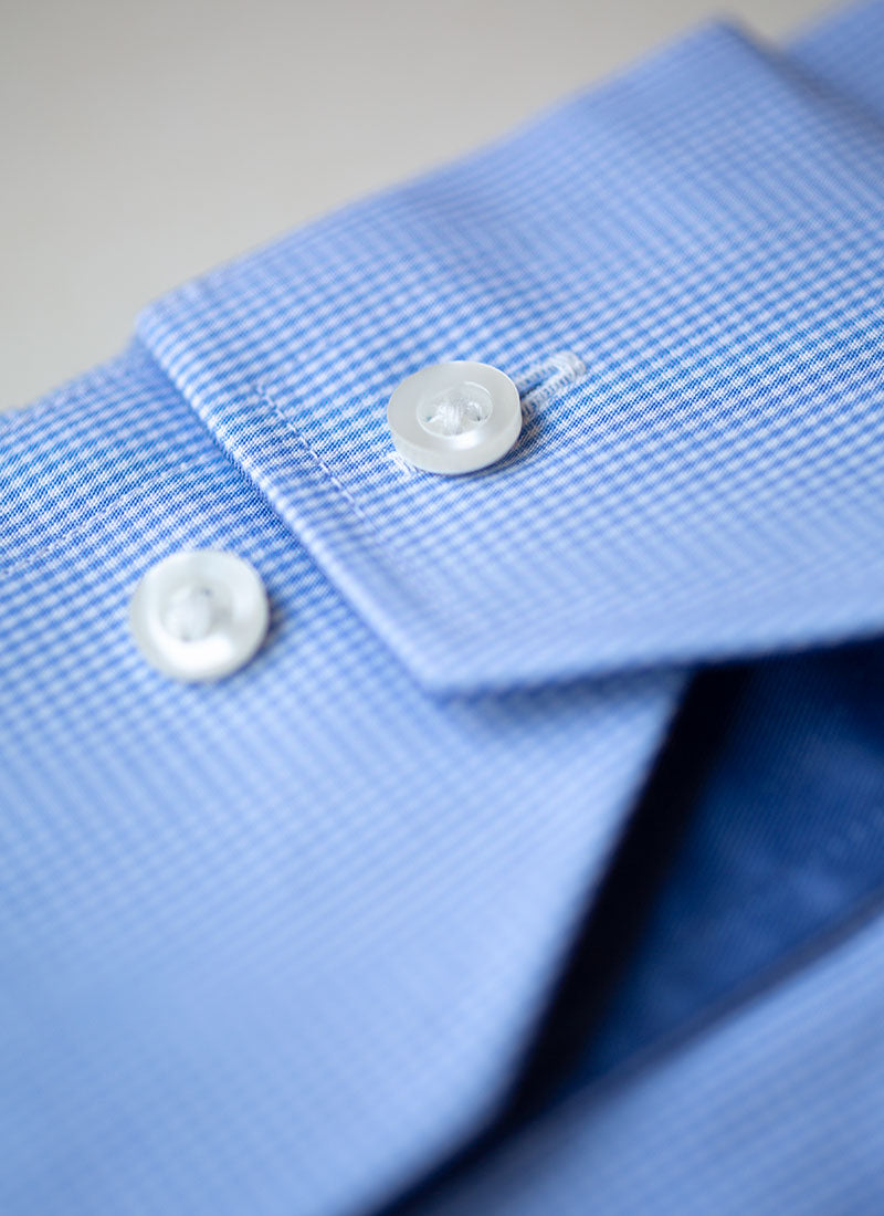 Maxwell in Light Blue Mini Gingham Shirt