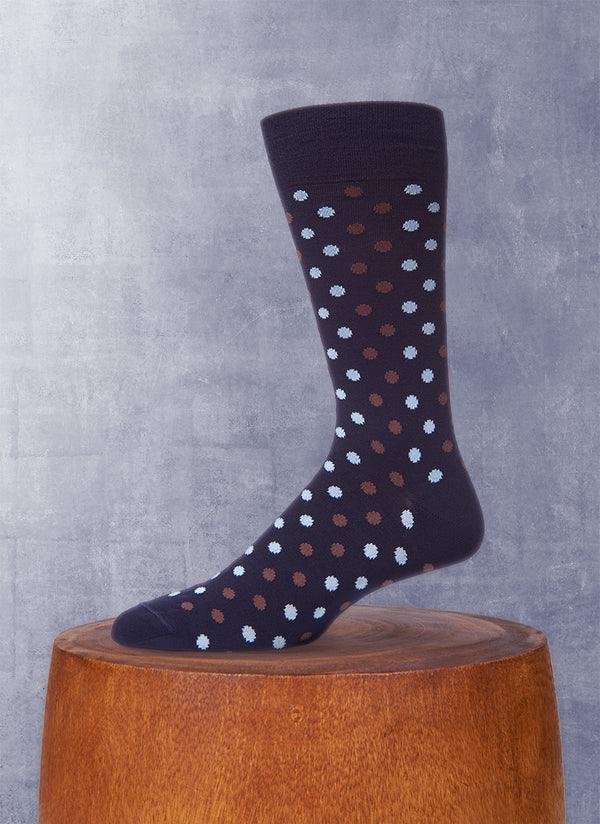 Dots Socks in Navy