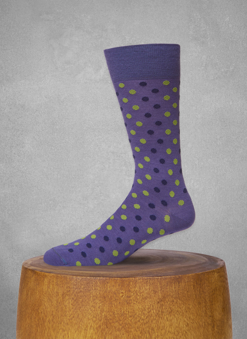 Rustic Dots Socks in Purple