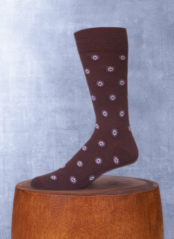 Foulard Sock in Burgundy