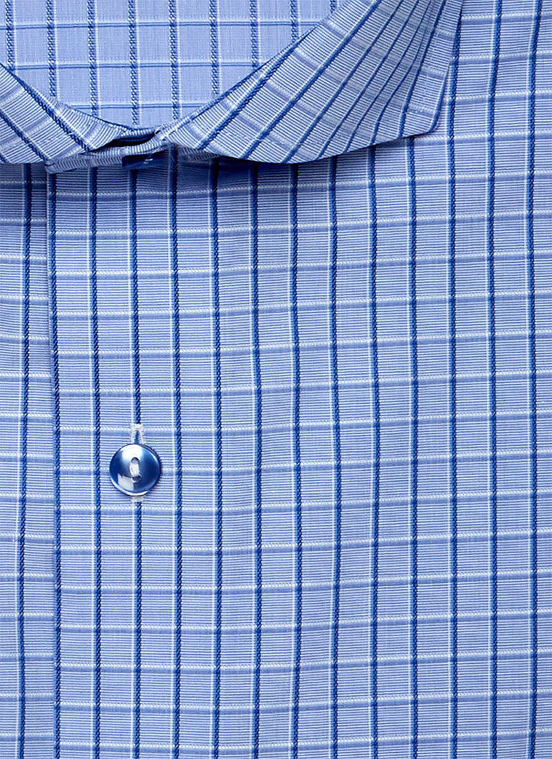 Alexander in Blue Windowpane Shirt