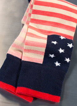 Americana Sock-Space Dye Flag